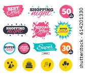 sale shopping banners. special... | Shutterstock .eps vector #614201330