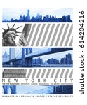 photo montage new york city...   Shutterstock . vector #614204216