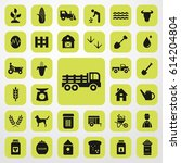 pickup truck icon. agriculture... | Shutterstock .eps vector #614204804