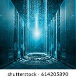 modern digital graph holograms... | Shutterstock . vector #614205890