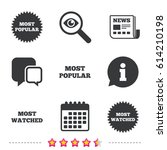 most popular star icon. most... | Shutterstock .eps vector #614210198
