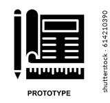 prototype glyphs vector icon   Shutterstock .eps vector #614210390