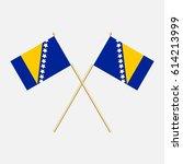 bosnia and herzegovina  flags....   Shutterstock .eps vector #614213999