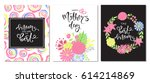 set of happy mothers day... | Shutterstock .eps vector #614214869