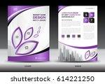 brochure template layout ... | Shutterstock .eps vector #614221250