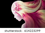 human profiles executed in... | Shutterstock . vector #614223299