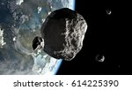 Big And Small Asteroids On...