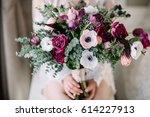 wedding bouquet. bride's flowers | Shutterstock . vector #614227913