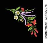 vintage style flowers elements...   Shutterstock .eps vector #614229278