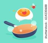 good morning  smile for sweet... | Shutterstock .eps vector #614230688
