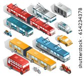 set of vector isometric... | Shutterstock .eps vector #614234378