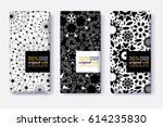 vector set of chocolate bar... | Shutterstock .eps vector #614235830