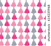 vector pink and grey decorative ... | Shutterstock .eps vector #614235968