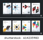 abstract vector business... | Shutterstock .eps vector #614235983