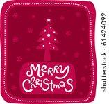 christmas card | Shutterstock .eps vector #61424092
