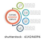 infographic template with four... | Shutterstock .eps vector #614246096