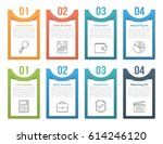 set of infographic elements... | Shutterstock .eps vector #614246120