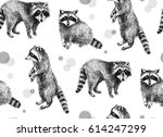 hand drawn seamless pattern... | Shutterstock .eps vector #614247299