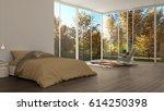 classic bedroom  minimalist... | Shutterstock . vector #614250398