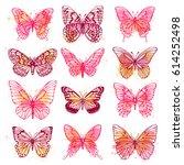 set of illustrations... | Shutterstock .eps vector #614252498