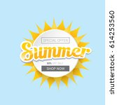 vector summer sale template... | Shutterstock .eps vector #614253560