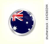 round button national flag of...