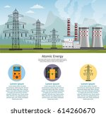 nuclear power plant vector... | Shutterstock .eps vector #614260670