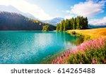 azure pond champfer is a unique ... | Shutterstock . vector #614265488