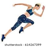 one young caucasian woman...   Shutterstock . vector #614267399