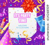 club party announcement... | Shutterstock .eps vector #614268509
