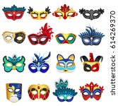 set of different colorful... | Shutterstock .eps vector #614269370