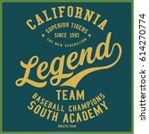 vintage varsity graphics and... | Shutterstock .eps vector #614270774