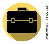 briefcase sign illustration.... | Shutterstock .eps vector #614272334