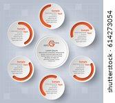 vector abstract 3d paper... | Shutterstock .eps vector #614273054