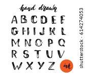 set of hand drawn grunge... | Shutterstock .eps vector #614274053