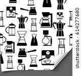 icons of methods of brewing... | Shutterstock .eps vector #614277680