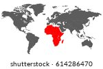 map of the world in grey color... | Shutterstock .eps vector #614286470