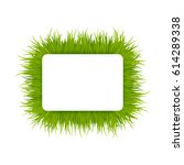 green grass square frame... | Shutterstock .eps vector #614289338