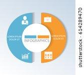 circular infographics of 2... | Shutterstock .eps vector #614289470