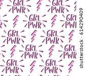 vector feminism symbol seamless ... | Shutterstock .eps vector #614290409