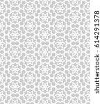 seamless geometric line pattern.... | Shutterstock .eps vector #614291378