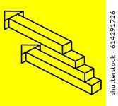 geometry. optical illusion arrow   Shutterstock .eps vector #614291726