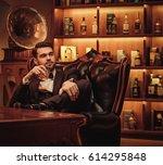 confident upper class man with...   Shutterstock . vector #614295848