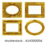 the antique gold frame on the... | Shutterstock . vector #614300006