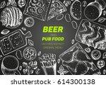 pub food frame vector...   Shutterstock .eps vector #614300138