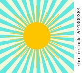 summer shining sun on the sky...   Shutterstock .eps vector #614300384