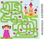 help little cute princess find... | Shutterstock .eps vector #614300450