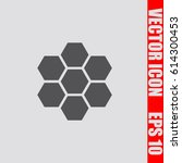 honeycomb icon sign symbol... | Shutterstock .eps vector #614300453