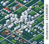 isometric 3d megapolis city... | Shutterstock .eps vector #614300810