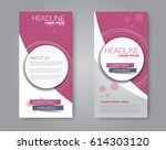 vector flyer and leaflet design.... | Shutterstock .eps vector #614303120